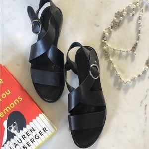 Rag & bone Bri black leather sandal